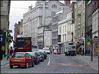 Traffic in St Mary Street, Cardiff