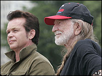 John Mellencamp and Willie Nelson