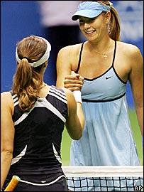 Martina Hingis and Maria Sharapova