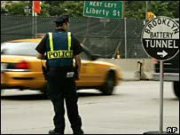 Extra security was put in place on New York's Battery Tunnel on 7 July 2005 New York's Battery Tunnel on 7 July 2005