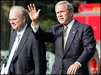 Karl Rove and George W Bush