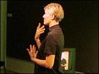 Interpreter using sign language