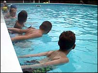 Pupils swimming