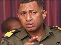 Fijian Commander Frank Bainimarama