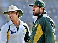 Shoaib Akhtar and Inzamam-ul-Haq