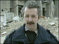 Jeremy Bowen pictured in 1991