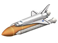 Schematic of space shuttle (BBC)