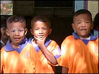 Schoolchildren at Baan Jut Deang