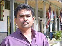 School principal Tanakorn Saengtarung