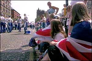 Children enjoying the parade