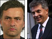 Jose Mourinho and David Dein