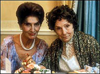 June Brown and Gretchen Franklin as EastEnders Dot and Ethel