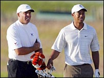 Tiger Woods and caddy Steve Williams