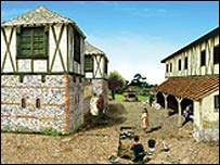 Reconstruction of Roman buildings at Silchester