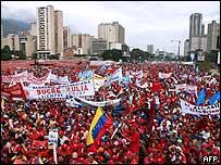 Manifestación en Caracas.