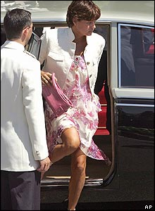 Princess Stephanie arriving at the cathedral