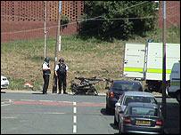 Bomb disposal team at scene in Leeds
