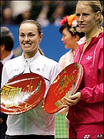 Martina Hingis and Elena Dementieva 