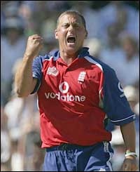 England bowler Darren Gough