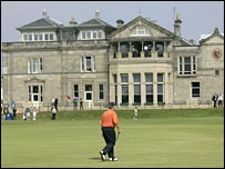 The clubhouse on the old course at St Andrews