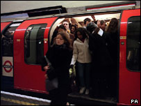 The train was full when David boarded at King's Cross
