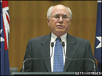 Australian Prime Minister John Howard. File photo