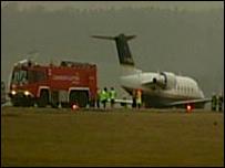 Crashed aircraft at Luton