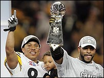Hines Ward (left) and Jerome Bettis