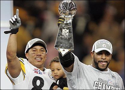 Hines Ward (left) with Jerome Bettis