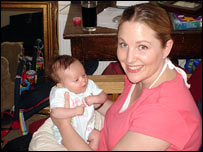 David Jeffery's girlfriend, Rachel, and their new baby, Daisy