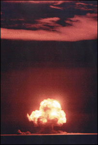 The bomb was detonated shortly before dawn