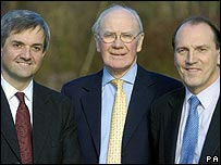 Chris Huhne, Sir Menzies Campbell and Simon Hughes