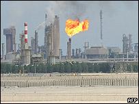 Refinería en Qatar.