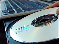 CD and laptop