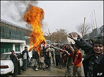 Manifestación en Afganistán