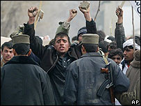 Manifestantes en Afganistán.
