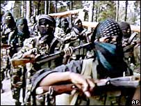 Militants training in Pakistan