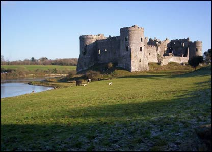 Carew Castle, as captured by Kate O'Neill