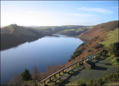 This fine view of Llyn Clywedog was sent by Roy Cheesewright