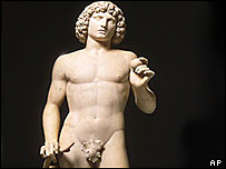 A statue of Adam by Venetian sculptor Tullio Lombardo, damaged in New York in 2002