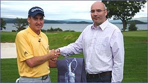 Ian meets winning designer Gavin at Loch Lomond