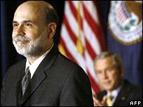 New Federal Reserve Chairman Bill Bernanke being sworn in