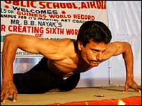 Martial arts instructor Bibhuti Bhushan Nayak