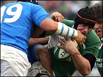 Ireland number eight Denis Leamy