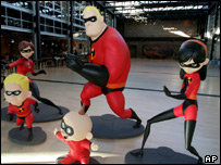 The main characters from The Incredibles