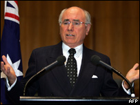 Australian Prime Minister John Howard, 13 July