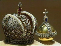 Miniature version of the imperial crown jewels