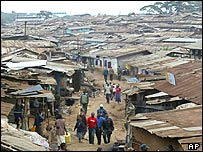 Slum in Kenya