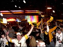 Wild scenes in Pittsburgh as the Steelers win Super Bowl XL