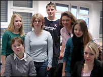 Students at Geschwister-Scholl-Schule, Zossen